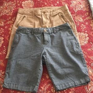 Two pair of shorts.